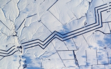 [Image] Etranges lignes parallèles dans la neige